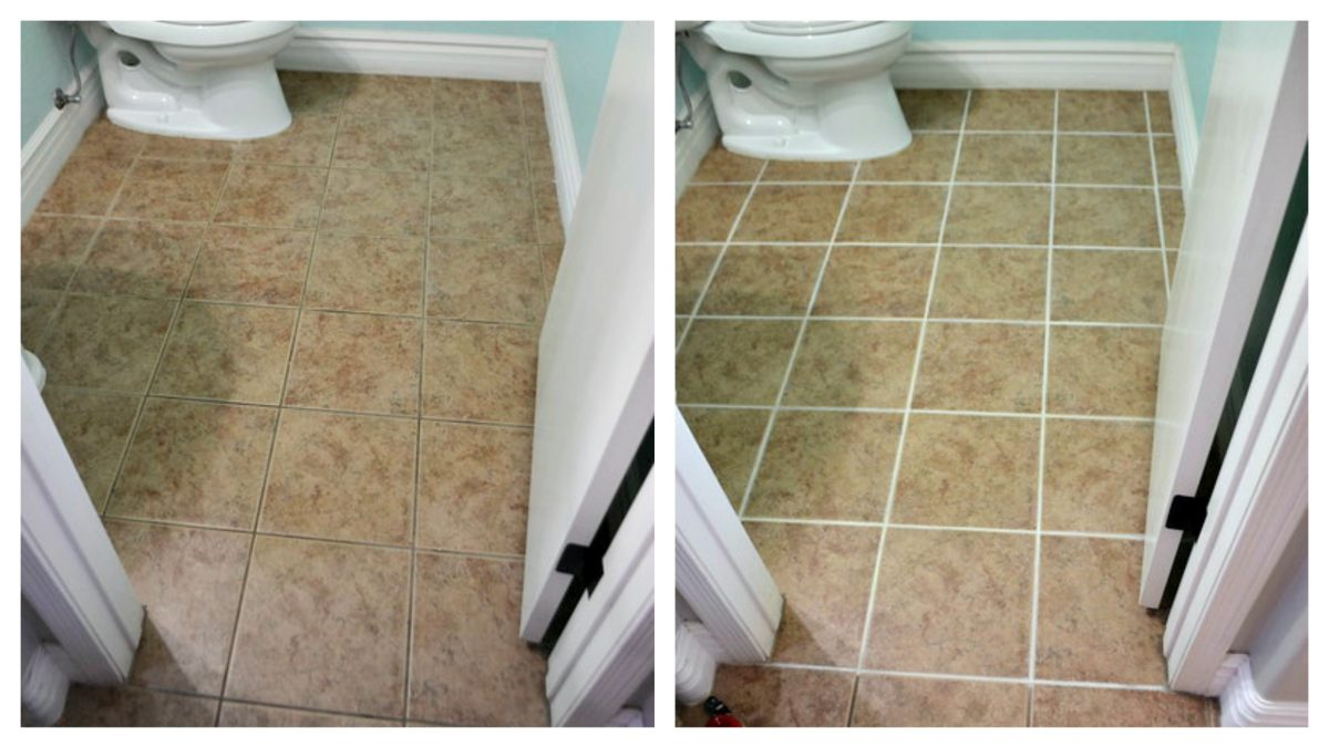 before and after comparison of a small bathroom