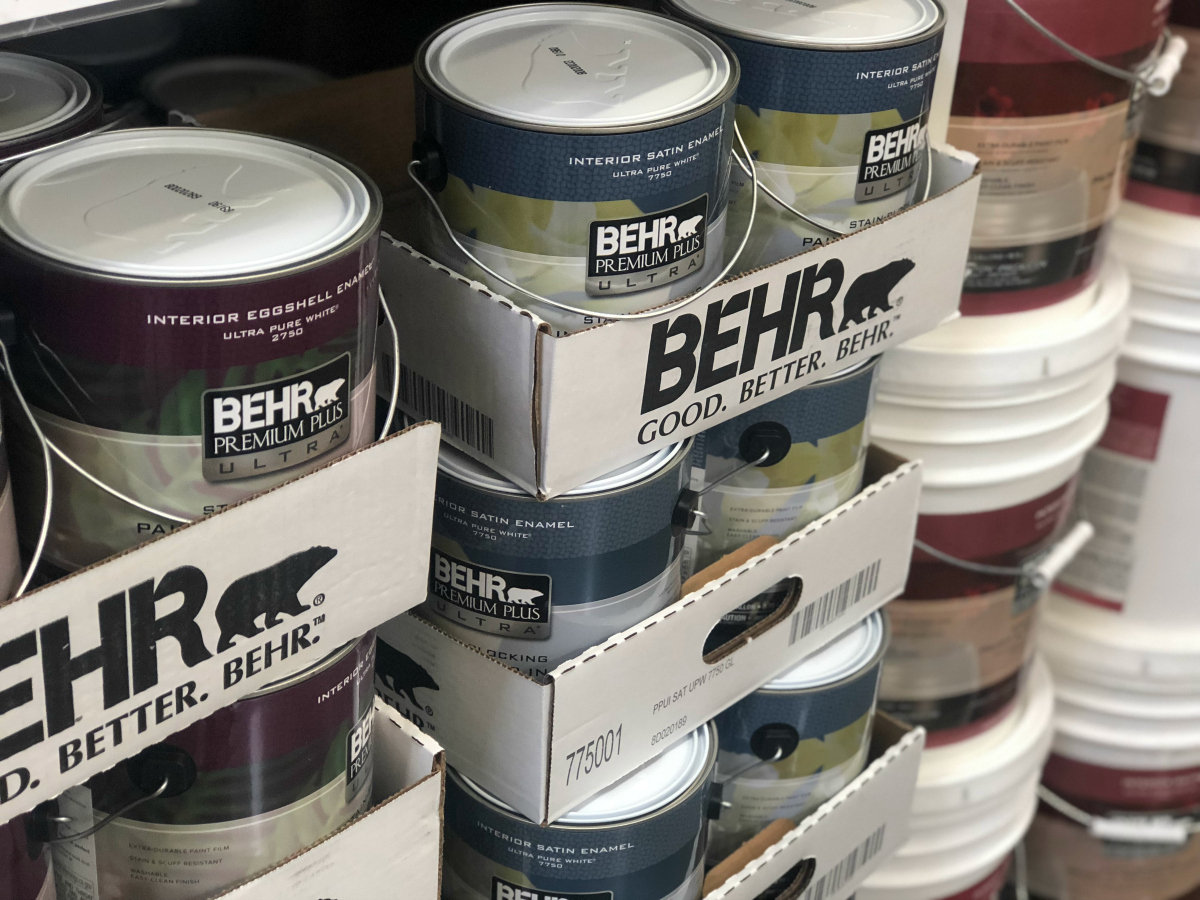 BEHR paint at Home Depot