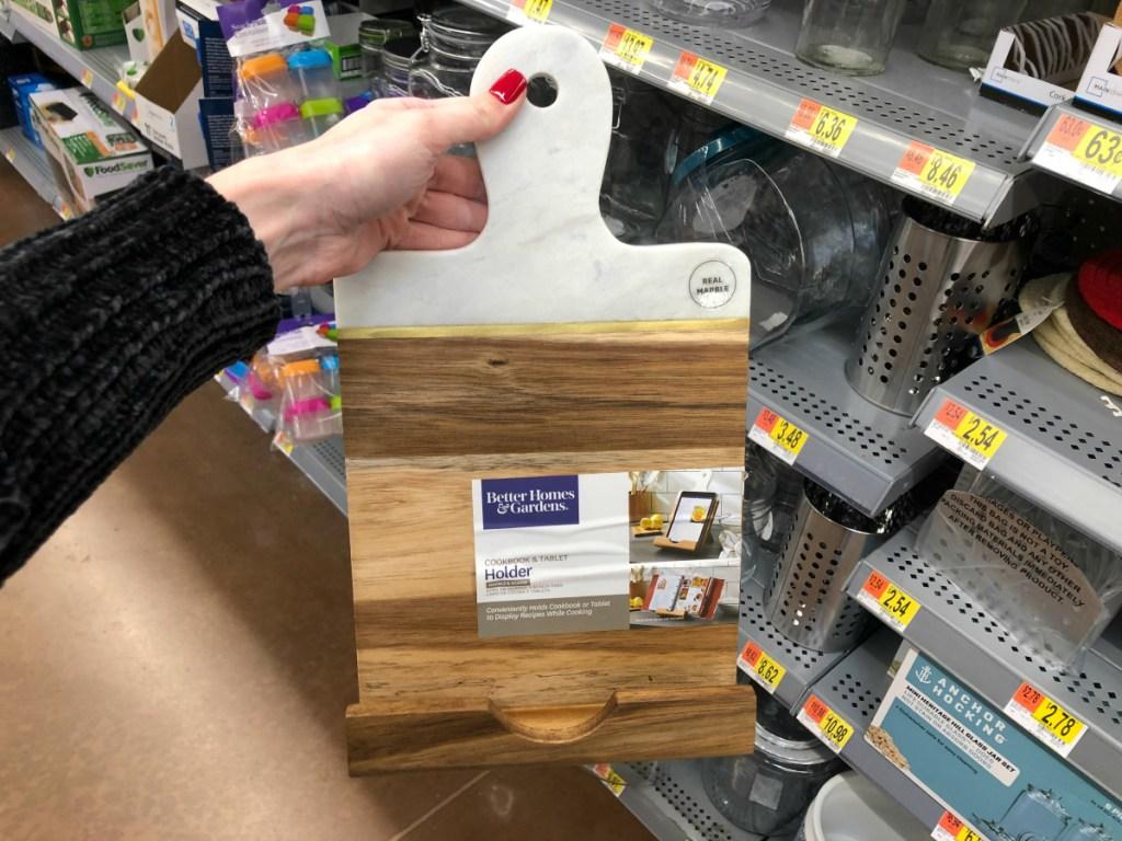 BHG cookbook and tablet holder at Walmart