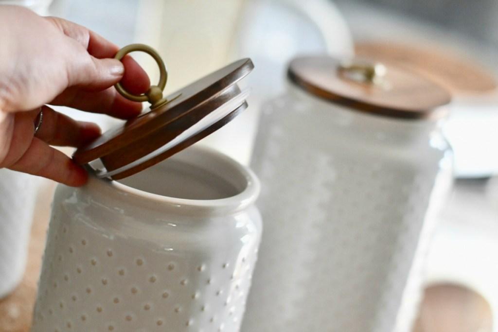 Ceramic Hobnail canister