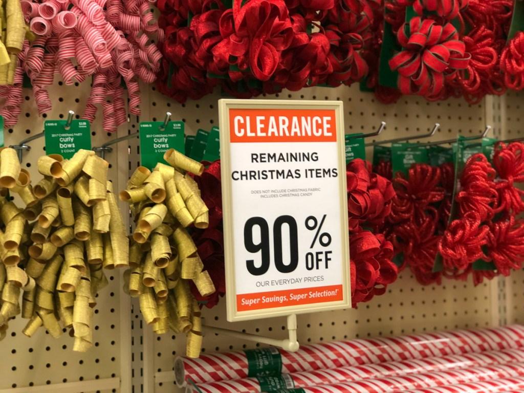 Christmas Clearance at Hobby Lobby