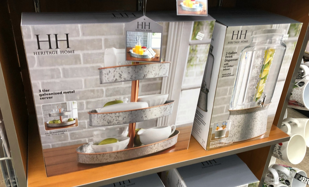 Galvanized 3 tier stand at Bed Bath & Beyond