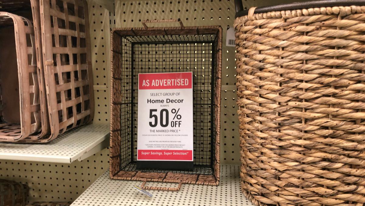 Hobby Lobby weekly sales baskets
