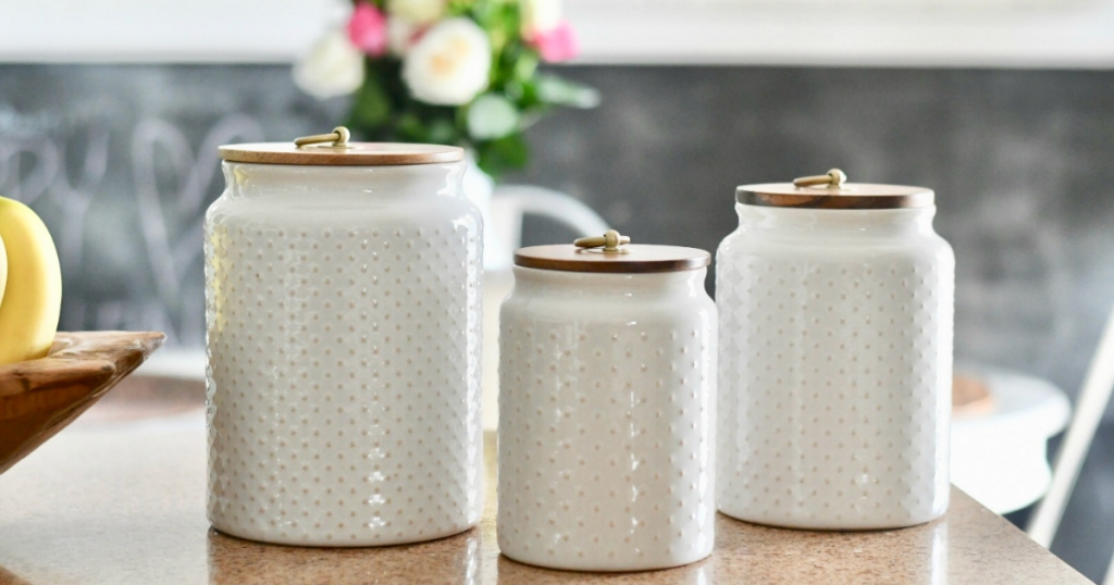 Hobnail canisters at Walmart