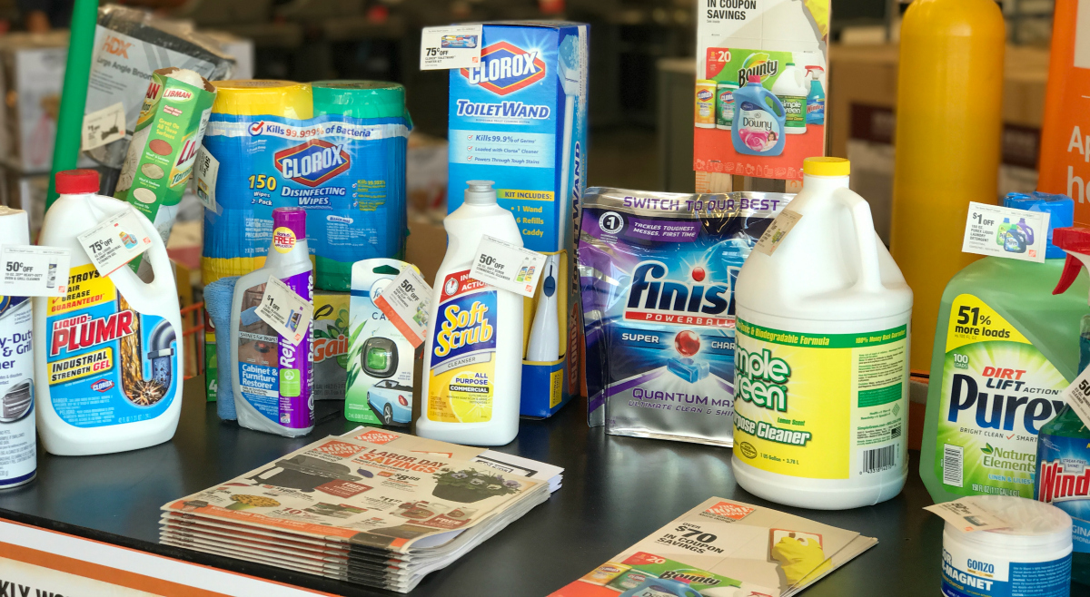 Home Depot cleaning supplies