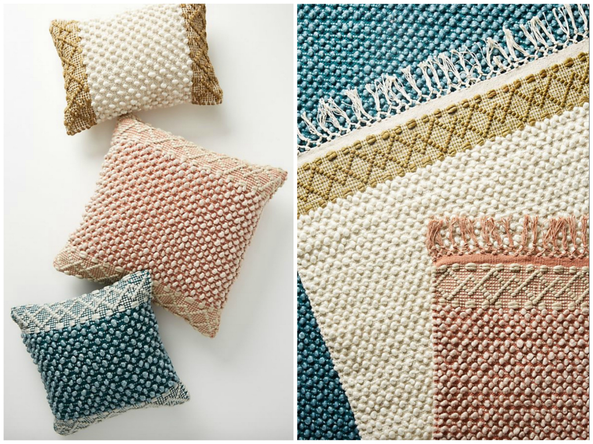 Joanna Gaines for Anthropologie pillows and rugs collection