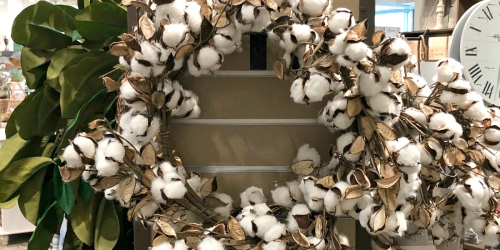 Love Magnolia Market? Check Out These Frugal Cotton Wreath Lookalikes for Less