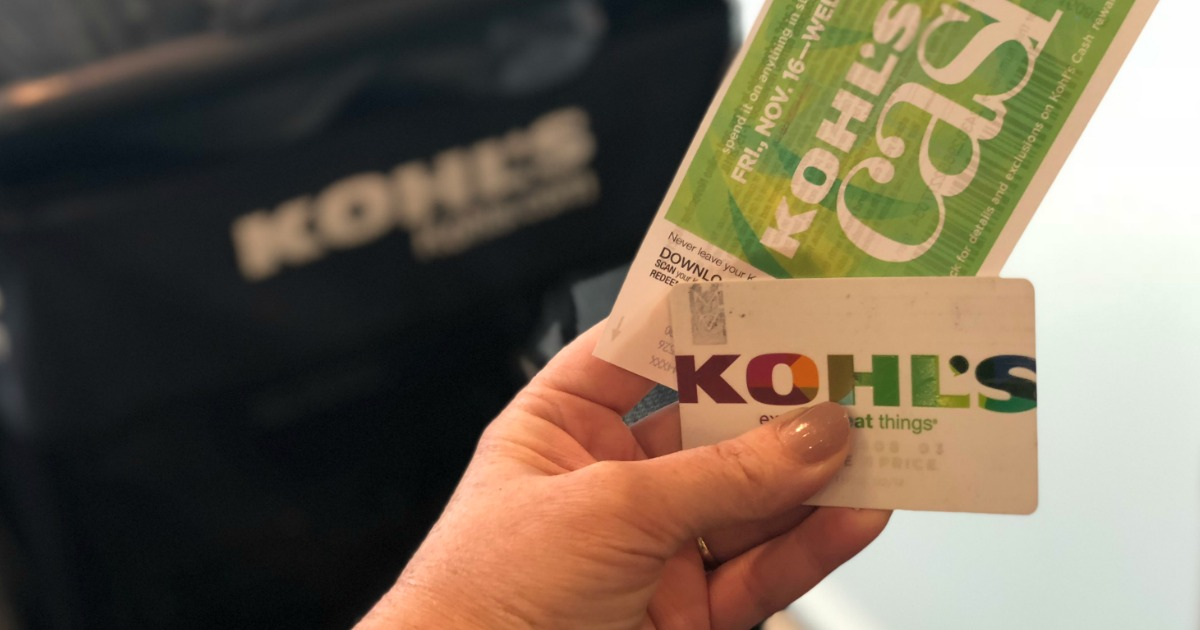 Kohls charge card and rewards cash