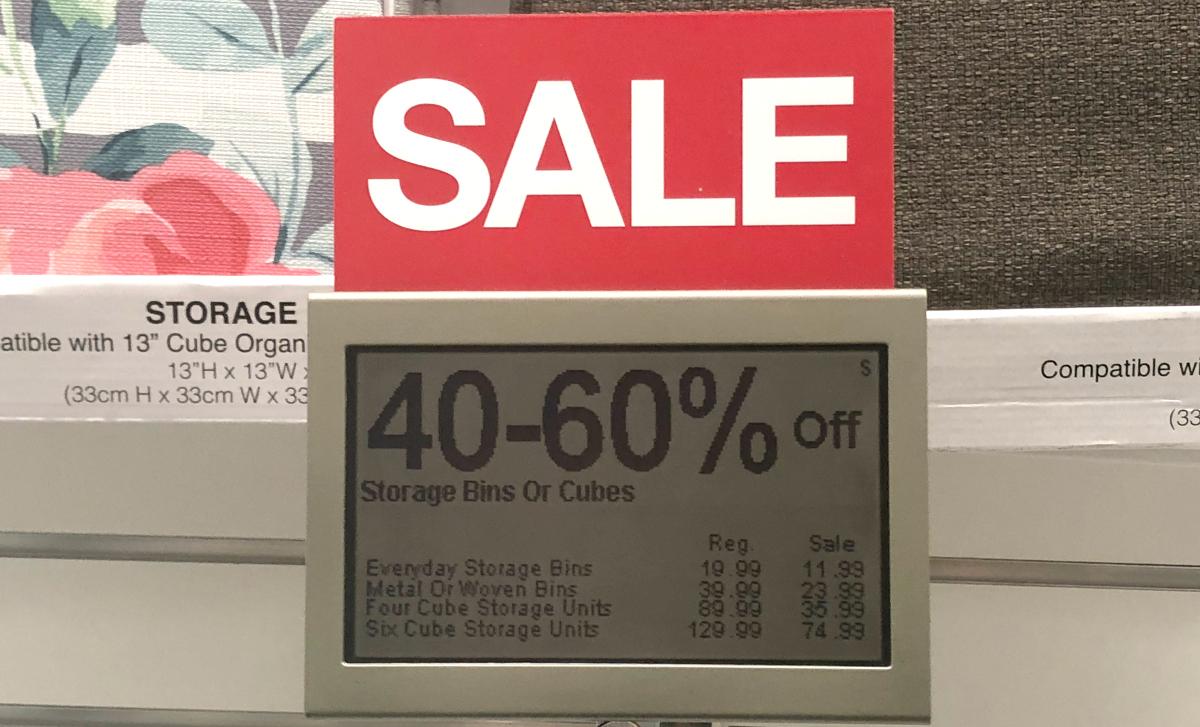 Kohl's sale sign