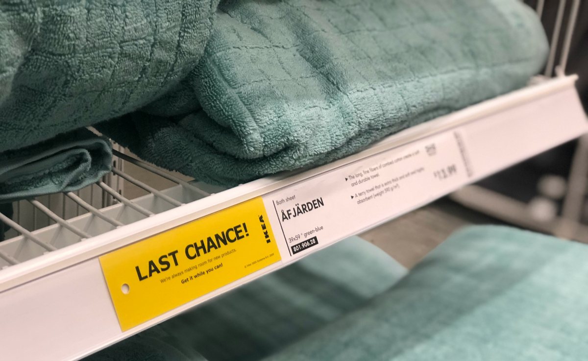 Last Chance labels at IKEA