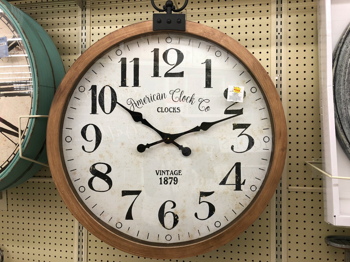 Rustic Wall Clock at Hobby