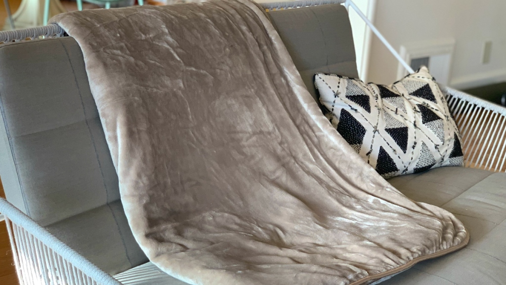 Soft Weighted blanket on chair