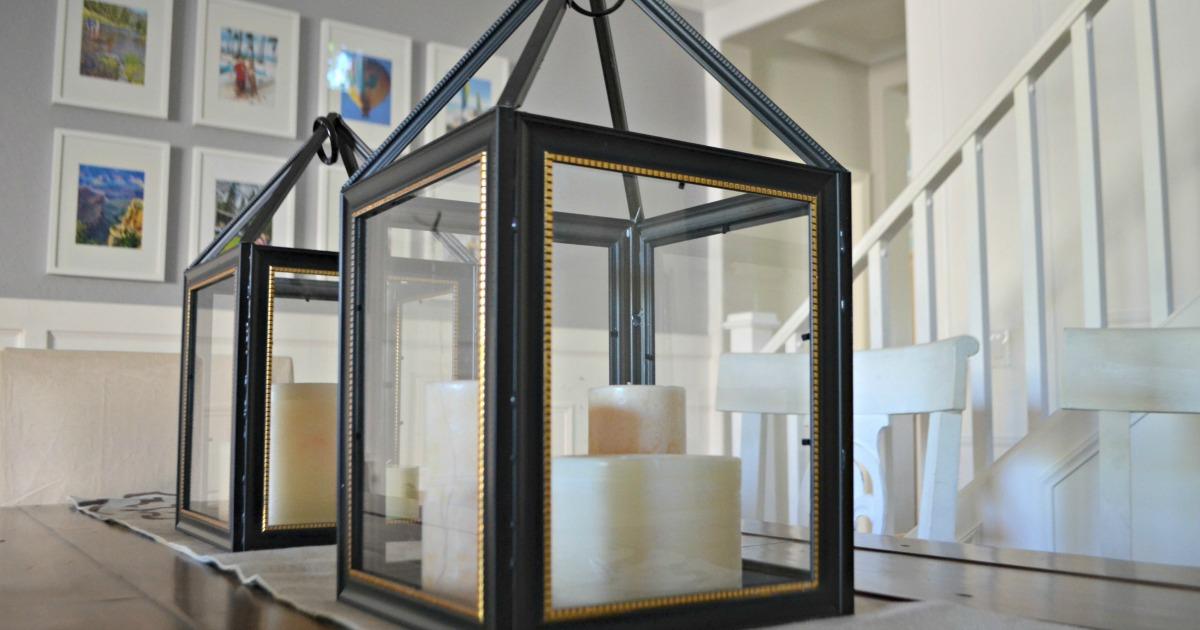 Turn Dollar Store Frames Into A Trendy Decorative Lantern