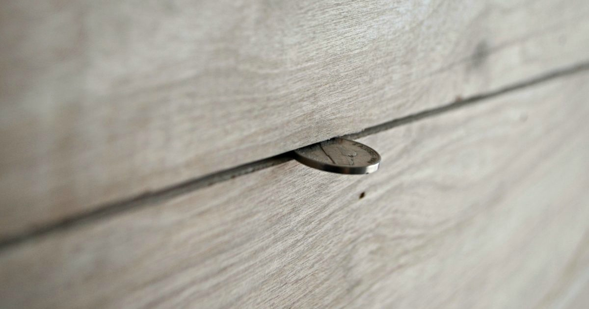 use a nickel to space shiplap walls