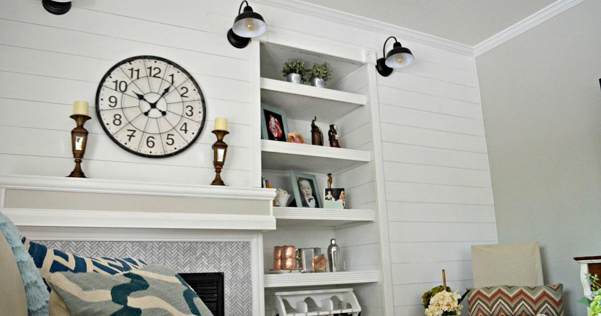 shiplap in Lina's family room