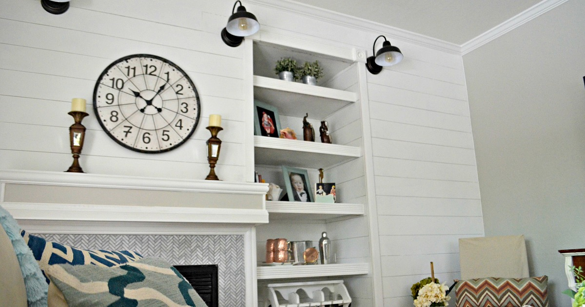 shiplap in Lina's family room