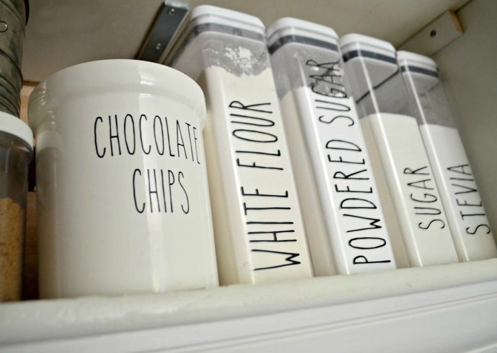 kitchen canisters with rae dunn inspired labels