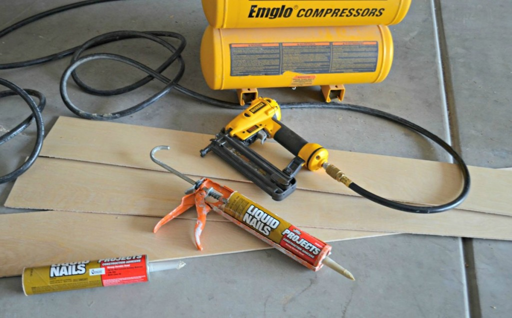 supplies needed to shiplap walls