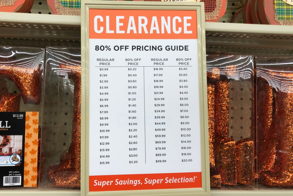 hobby lobby clearance pricing