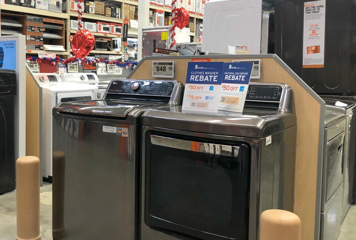 home depot appliance rebates