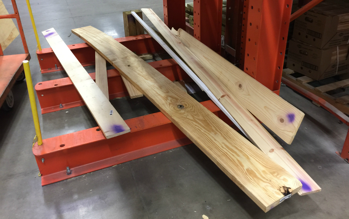 home depot cull lumber