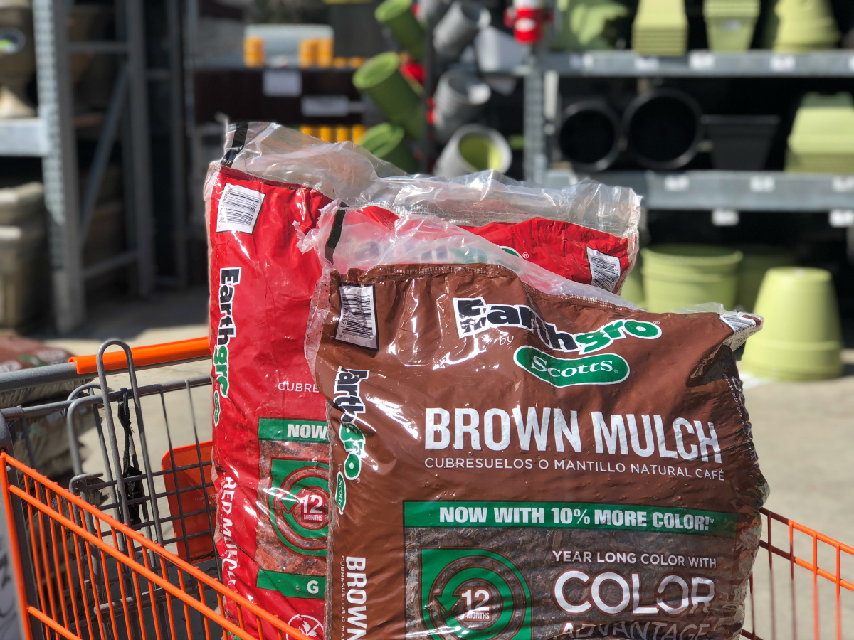 home depot bagged mulch