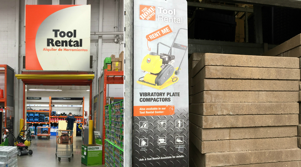 home depot tool rental section