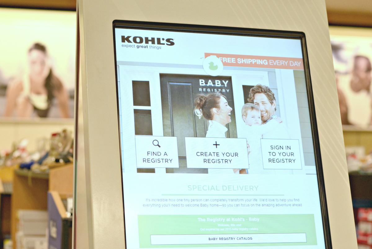 kohl's registry kiosk