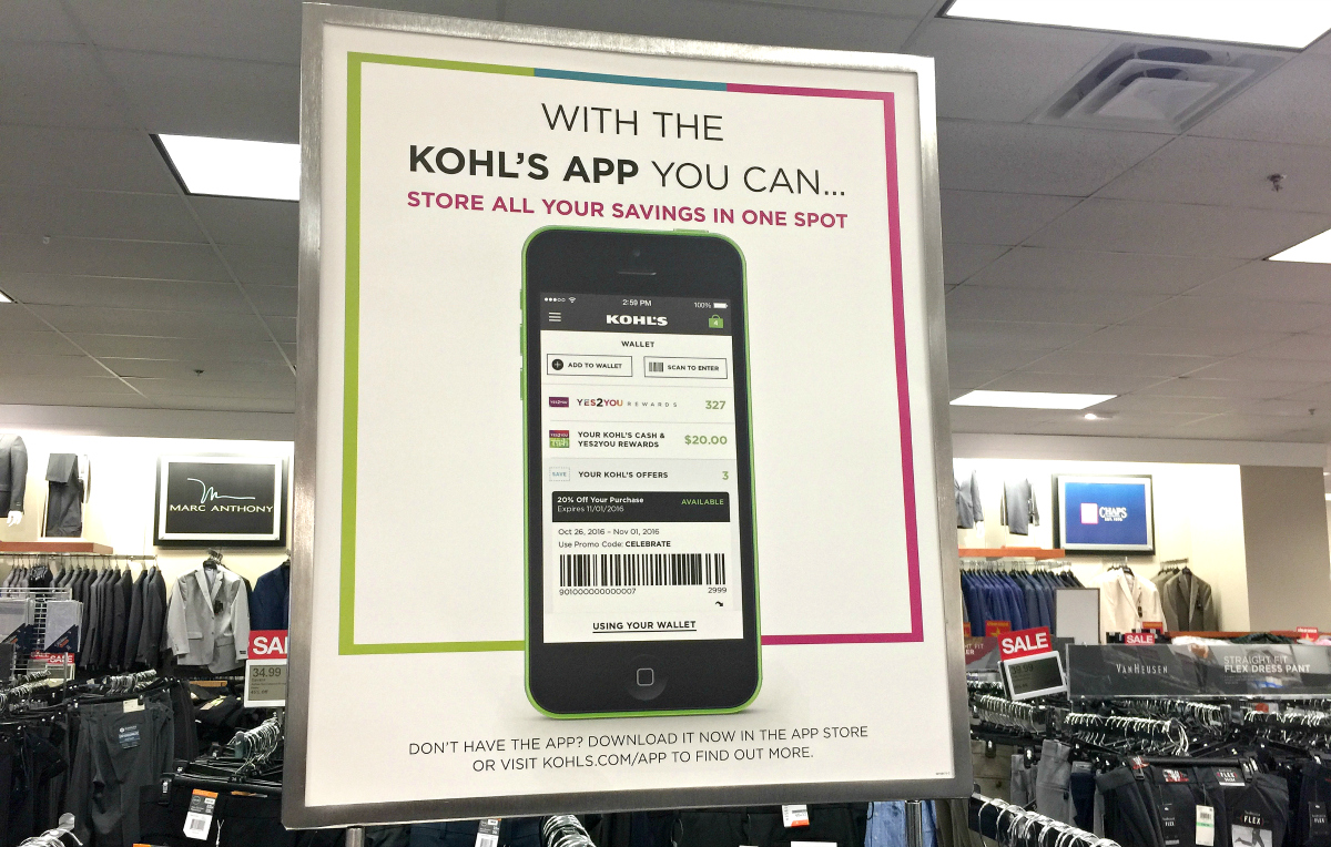 kohls app in-store signage