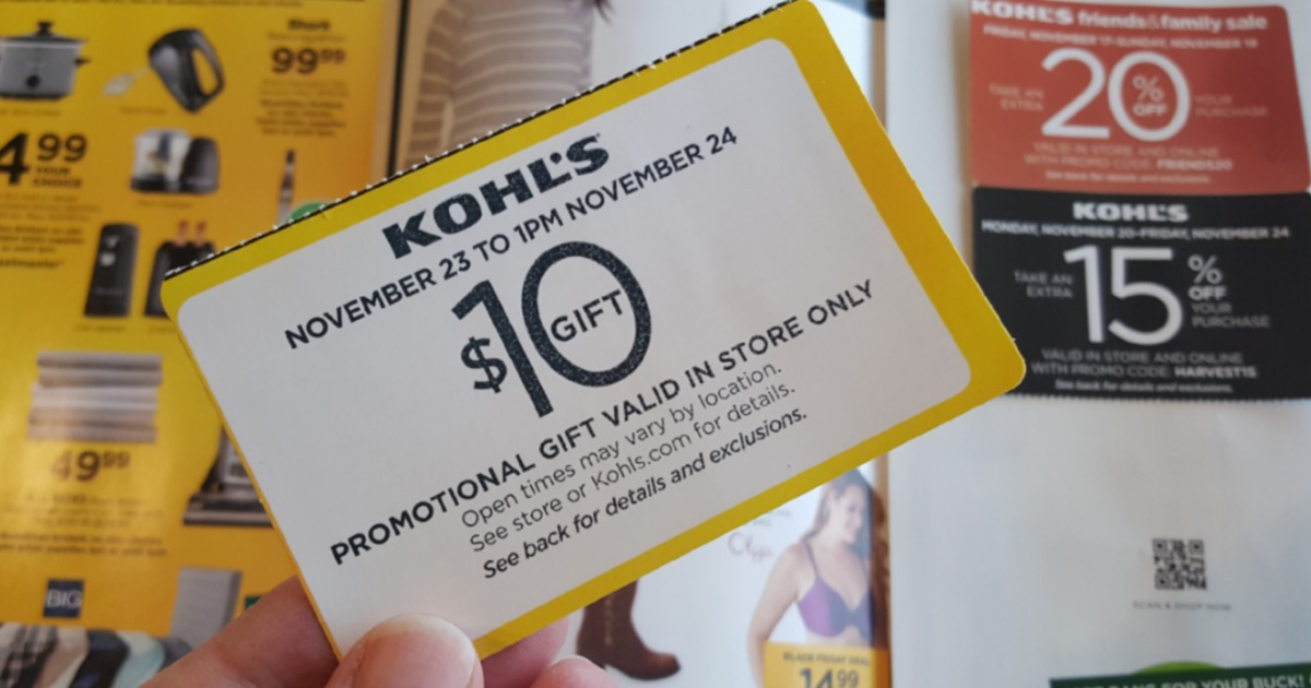 kohls mailer coupons