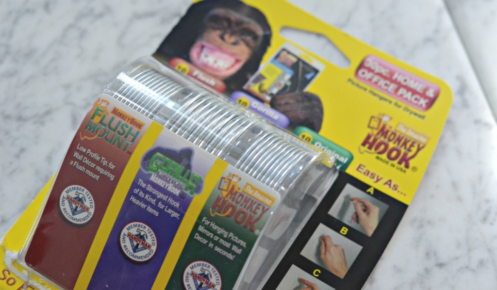 one pack of gorilla monkey hooks on countertop