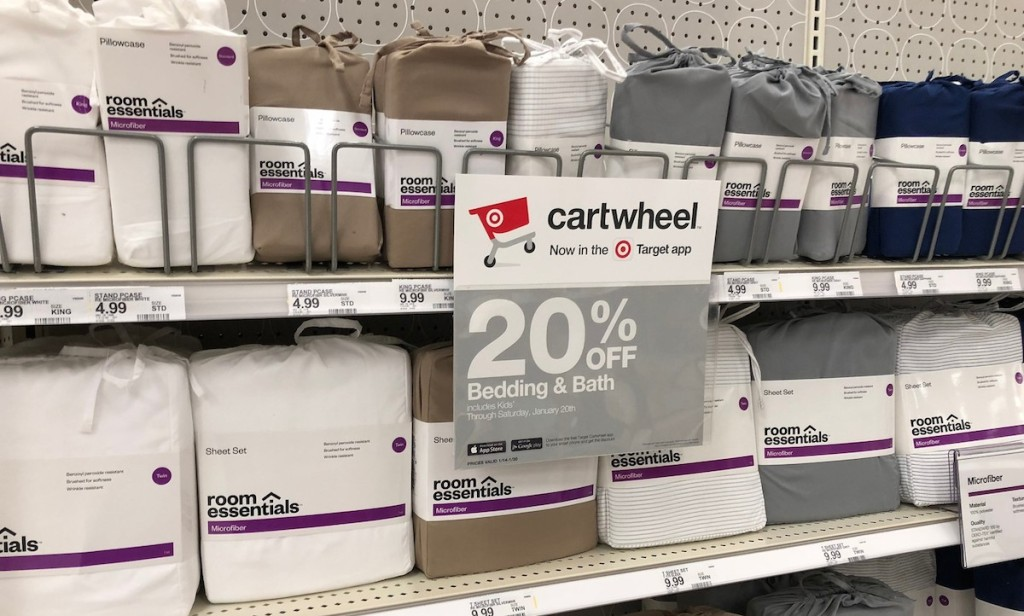 various sheetsets at target room essentials brand