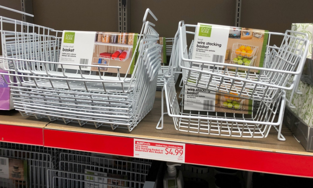 ALDI kitchen wire baskets