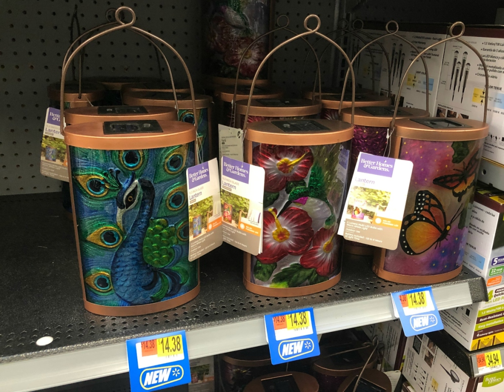 BHG peacock Lanterns