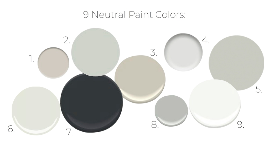 various random neutral colors round circles scattered on white background