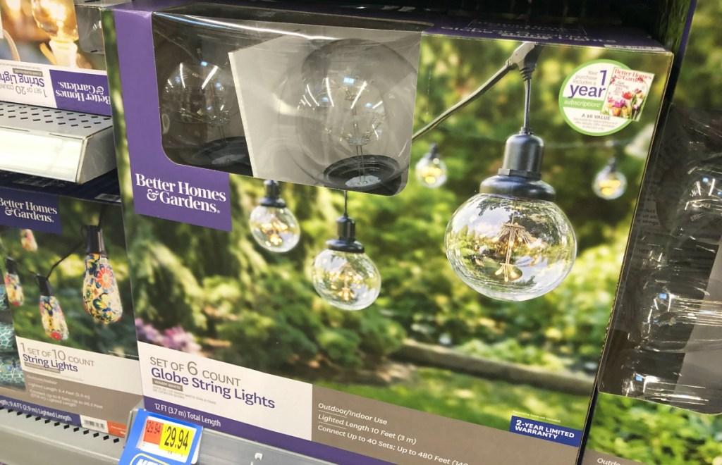 Better Homes & Gardens Globe lights