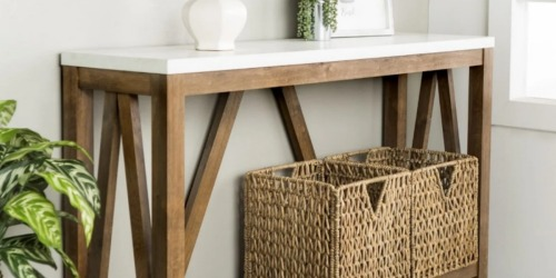 Over 50% Off Console Tables (These Pieces are Versatile & Functional!)