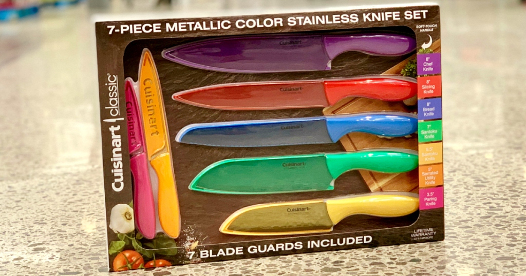 Costco Members Don T Miss This Cuisinart Metallic Color Stainless Steel Knife Set Deal