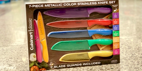 Costco Members! Don't Miss This Cuisinart Metallic Color Stainless Steel Knife Set Deal