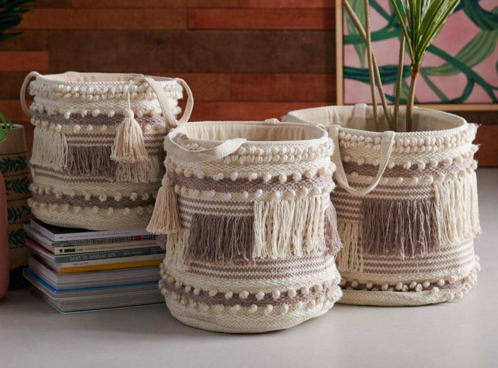 Flower Home storage baskets
