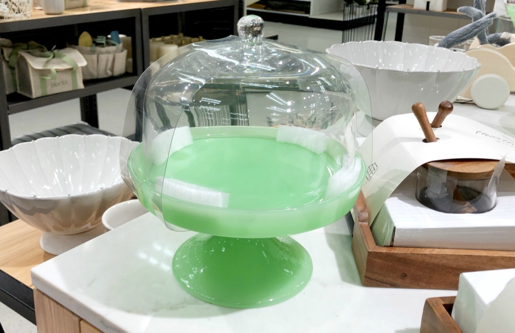 Green Cake Stand at Target