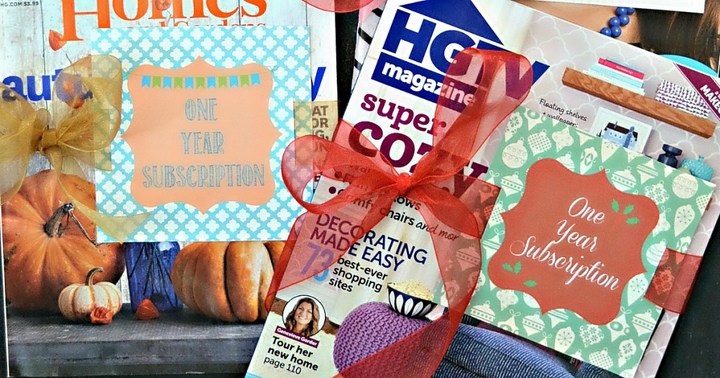 HGTV magazine gift subscription