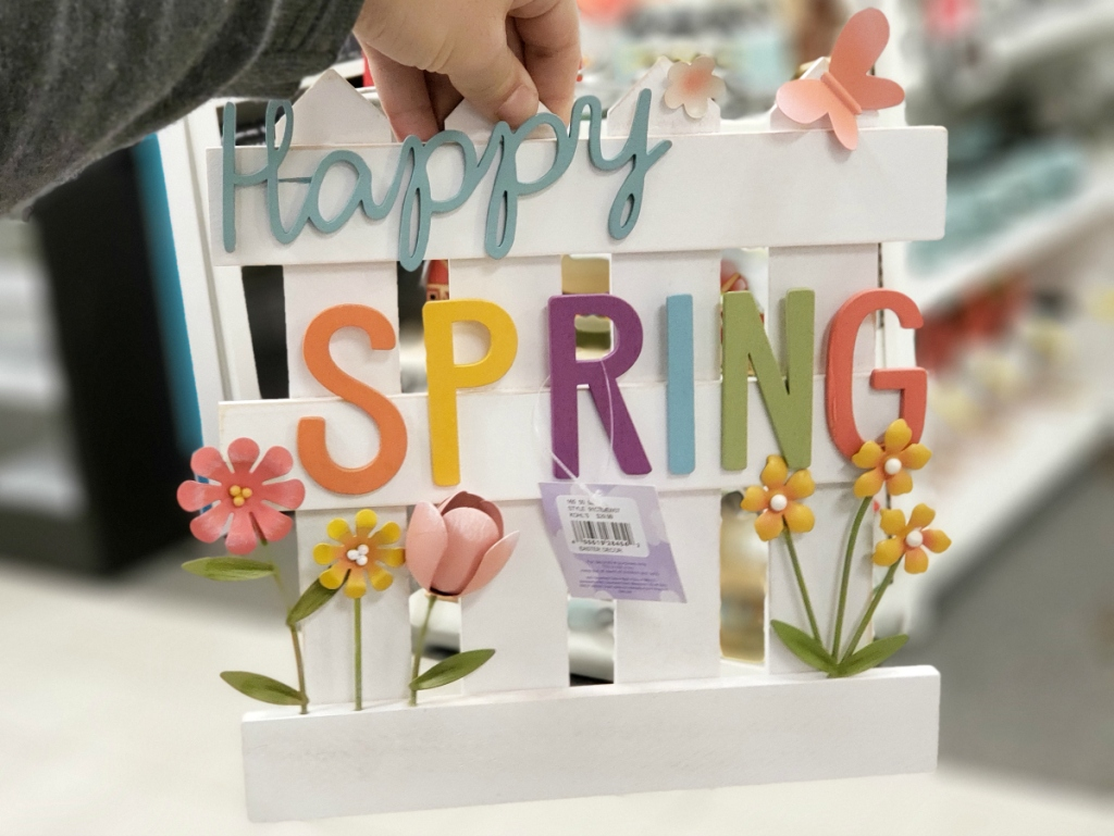 Happy Spring Easter sign