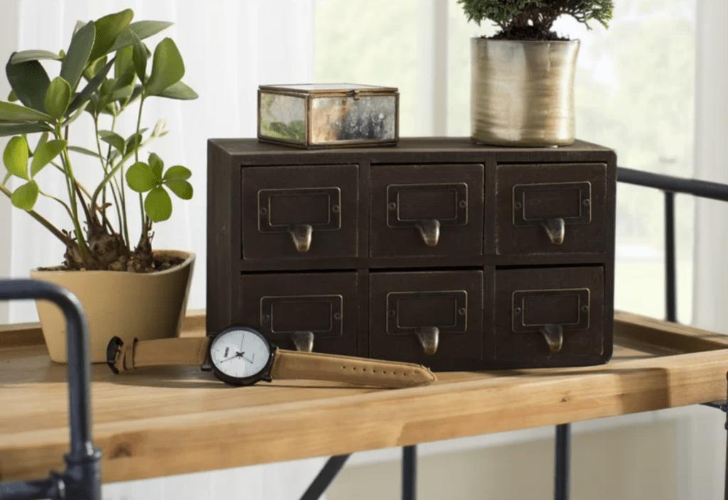 6-drawer desktop organizer