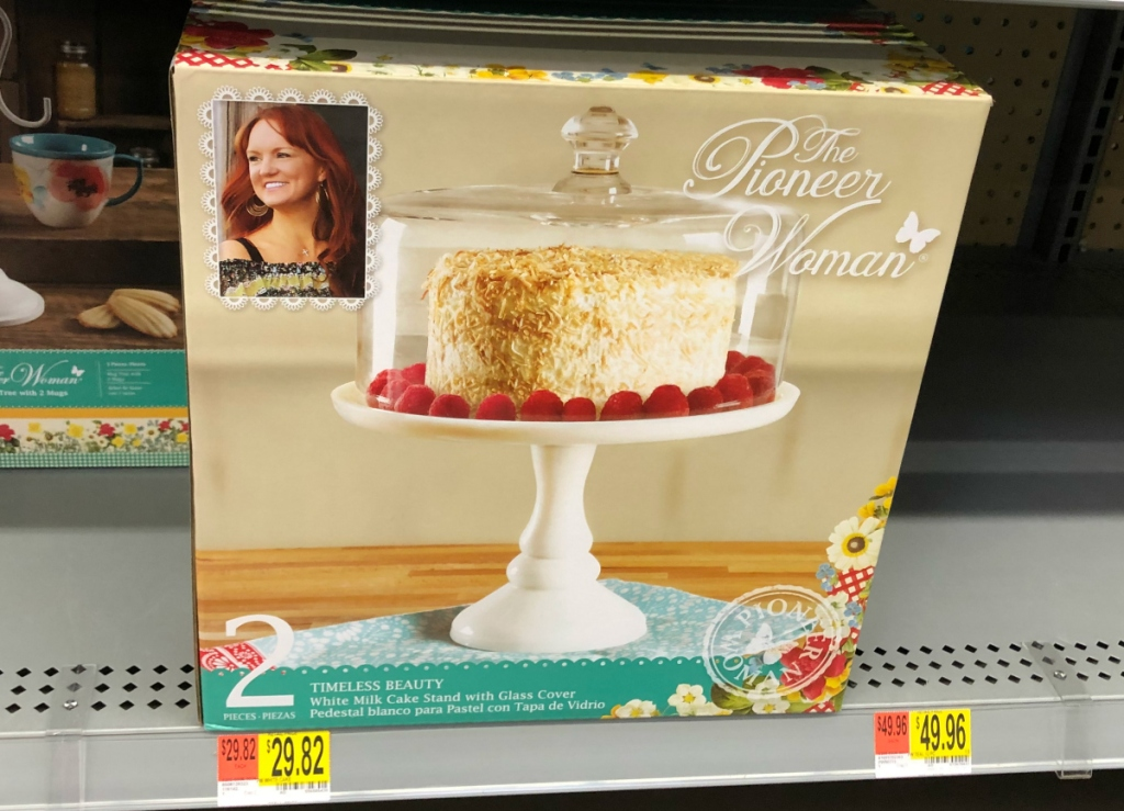 Pioneer Woman white cake stand