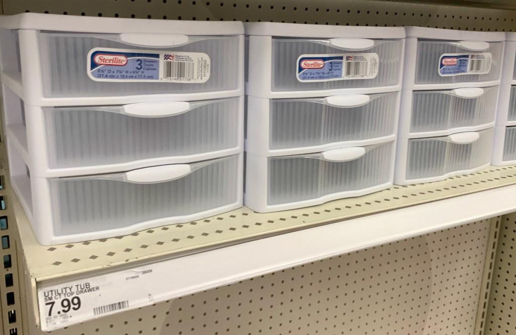Sterilite drawers