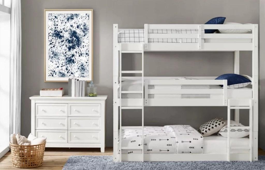 Wayfair triple bunk bed