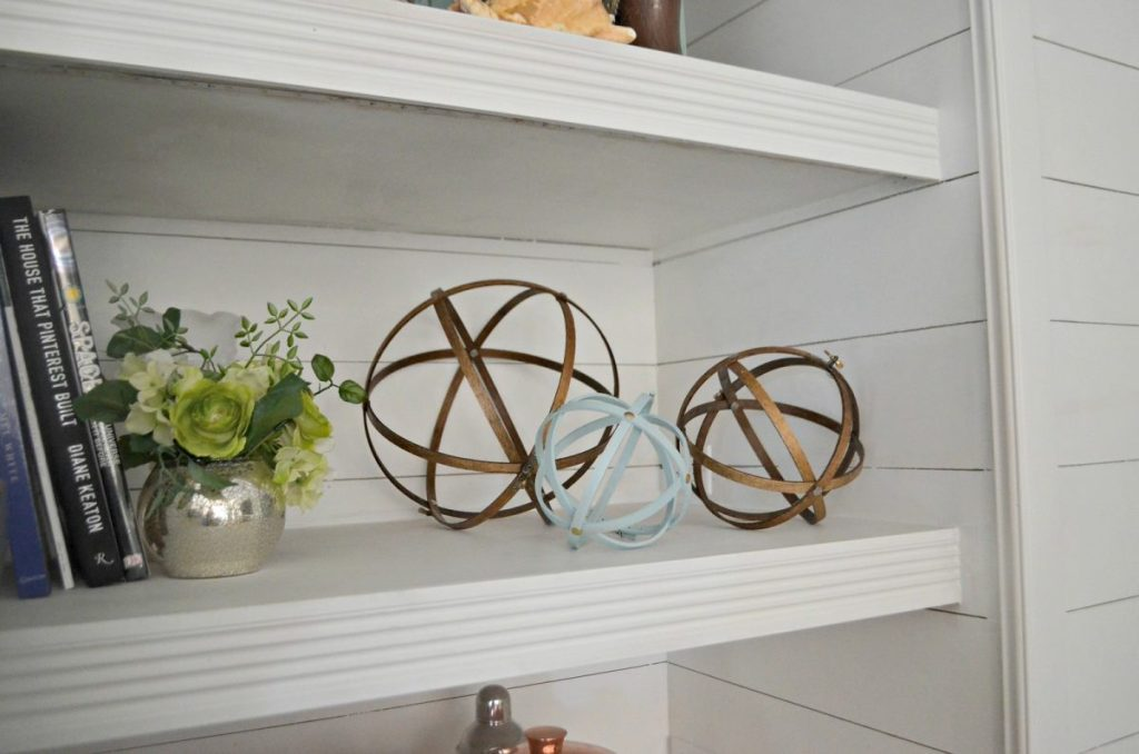 decorative open shelving