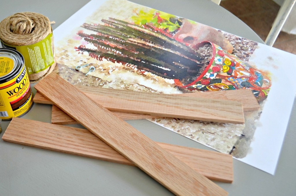 supplies needed for diy wood hanging poster frame