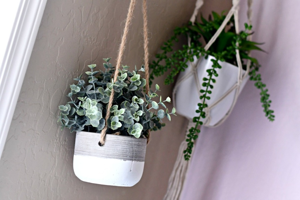 hanging faux planters from tjmaxx
